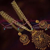 Kemp Red Polki Stones Gold Design Pendant Earrings Pearl Mala Traditional Jewelry Online