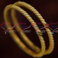 Pearl Bangles 2 Pcs Set Thin Daily Wear Imitation Jewellery Designs Online
