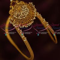 Traditional Temple Vanki Latest Matte Finish Bridal Jewellery Shop Online