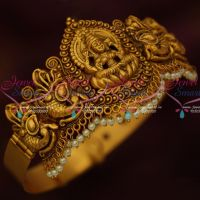 Temple Nagas Antique Matte Gold Plated Traditional Bridal Jewellery Vanki Bajuband Online
