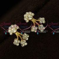 Floral Design Two Tone Plated Floral Design Earrings Micron Plated Regular Wear