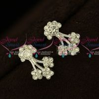 Floral Design Silver Plated Floral Design Earrings Micron Plated Regular Wear