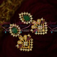 Multi Color Stones Fancy Jewellery Flower Pot Earrings Latest Artificial Collections