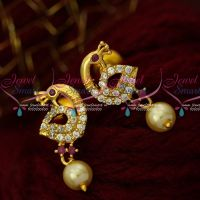 AD Trendy Jewellery Small Ear Studs Pearl Drops Artificial Online