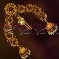 Red Stones Matte Gold Reddish Plated Rakodi Bridal Hair Jewellery Online
