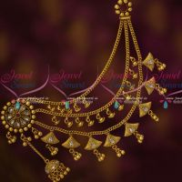 Bahubaali Antique Jewelry Polki Mattal EarChains Latest Bridal Shop Online