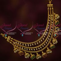 3 Layer Ear Chains Bahubaali Style Jewellery Crystal Drops Latest Fashion Online