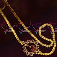 Ruby Peacock AD Mugappu South Indian Covering Chain Traditional Jewelry Online
