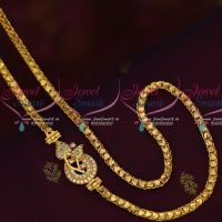 Traditional Model Mugappu Side Pendant Covering Chains Gold Design Jewelry Online