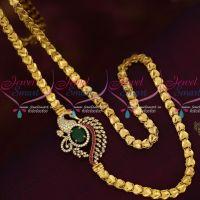 Multi AD Stones Mugappu Model Fancy Covering Chain South Indian Jewelry Online