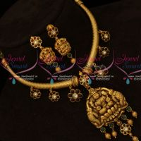 Real Gold Finish Kemp Pipe Necklace Antique Reddish Plated Jewellery Online