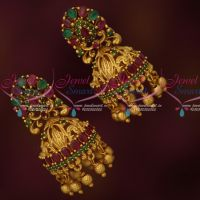 Bridal Jhumkas South Indian Fashion Ruby Emerald Jewelry Online