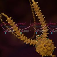 Low Price South Indian Net Design Fancy Necklace Latest Gold Covering Jewellery