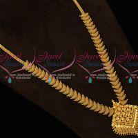 South Indian Jewellery Gold Plated Haram Long Necklace Fancy Designs Online
