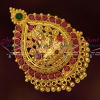 Temple Gold Covering Pendant South Indian Low Price Hair Accessory Online