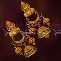 Temple Chand Bali Ruby Jhumka Earrings Latest Traditional Jewelry Designs Online