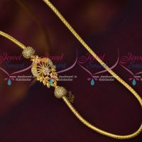 Thali Kodi Chain Gold Covering Peacock AD Mugappu South Indian Jewellery Online