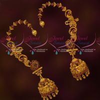 Artificial Jewellery Matte Intricately Designed Gold Inspired Bluetooth Extra Clip Earrings Online