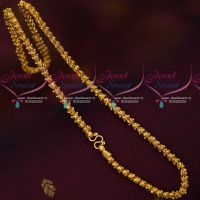 18 Inches 5 MM Thick Dasavathar Model Gold Covering Chain South Indian Jewellery