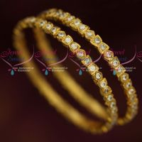 Single Line Thick Metal Getti Item AD Hand Setting Stone Bangles Online