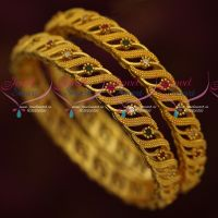 Broad Design Imitation Bangles South Gold Covering Plated Jewellery Online
