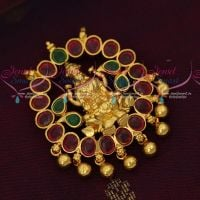 Double Hook Temple Pendant Traditional South Indian Imitation Jewellery