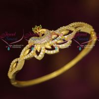 Peacock AD Jewellery Clip Open Bracelets Latest Fashion Collections Online