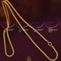 3 MM Fancy Sangili Design Chain Gold Covering South Indian Artificial Jewellery