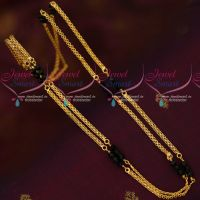 Rettai Vadam Black Crystal 18 Inches Chain Gold Model Jewellery Online