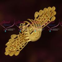 Peacock Design Plain Gold Finish Hair Clip Latest Fashion Jewellery