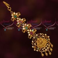 Temple Jewellery Matte Antique Maang Tikka AD Stones Artificial Collections