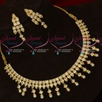 Kundan Style AD White Stones Sparkling Jewellery Set Party Wear Collections
