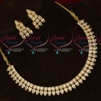 2 Row Kundan Style AD Sparkling Stones Fashion Jewellery Set Shop Online