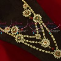 American Diamond Multi Strand Floral Design  Wedding Jewellery Collections Online