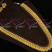 Traditional Gold Antique Matte Finish Coin Kasulaperu Haram Jewellery Designs Online