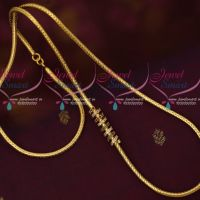 Latest Trendy Imitation Jewellery Gold Model Spiral Side Pendant Roll Kodi Chain