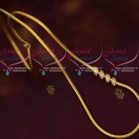 Kodi Chain Gold Covering Jewellery AD White Stone Fancy Mugappu Latest Designs