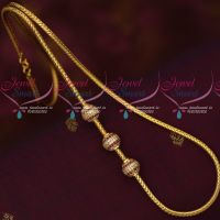 Thali Kodi Roll Chain Gold Model Ball Mugappu Latest Trendy Imitation Jewellery Online