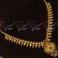 Ruby Emerald AD Stones Short Mango Mala Daily Wear Gold Covering Jewellery