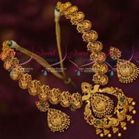 Gold Inspired Temple Imitation Traditional Jewellery Designs Latest Necklace Online