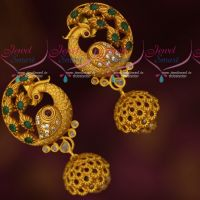 Peacock Model Big Size Tops Small Jhumka Latest Designs Imitation Jewellery Online