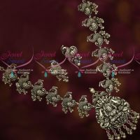 Silver Blackish Antique Plated Temple Nagas Traditional Jewellery Shop Online