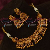 Latest Floral Mini Choker Necklace Matching Earrings Fashion Jewellery Designs