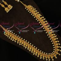 Mango Laxmi Coin Gutta Pusalu Haram Latest Nakshi Long Necklace Online