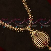 Gold Plated Simple Design Haram Traditional Jewellery South Indian Collections