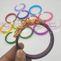 12 Colours Changeable Design Peacock Kada Matte Gold Finish Matching Jewellery Online