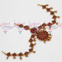 Kemp Red Stones Damini Bridal Traditional Jewellery Online