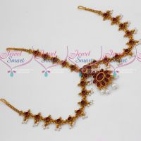 Kemp Red Stones Bridal Hair Decoration Traditional Jewellery Damini Matha Patty Online