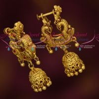 Gold Plated Jhumka Earrings Intricately Finished Imitation Jewellery Online