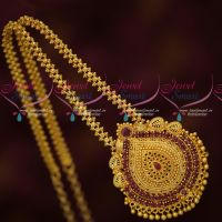 Ghajiri Chain Gold Plated Jewellery Daily Wear South Indian Ruby Pendant Shop Online